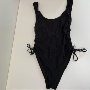 L.A. Hearts Black One Piece Swimsuit